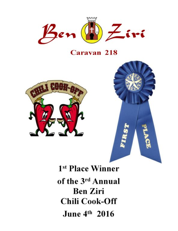 Ben Ziri Chili Cook Off